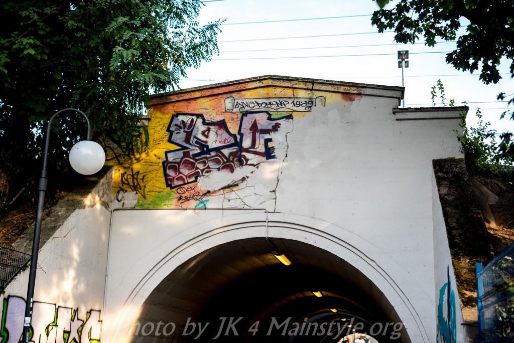 Aktuelle Graffiti, Streetart Motive, Offenbach, 2015, ehemaliger EGU Tunnel.
